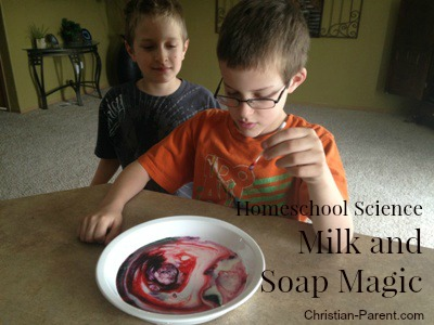 milk and soap magic
