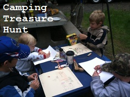 camping treasure map