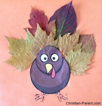fall leaf turkey